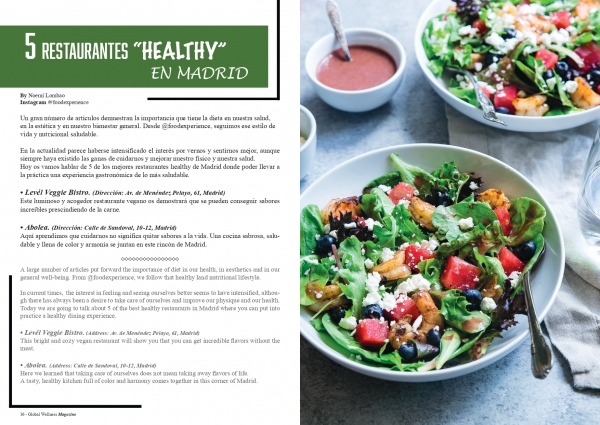 "5 RESTAURANTES ""HEALTHY"" EN MADRID"